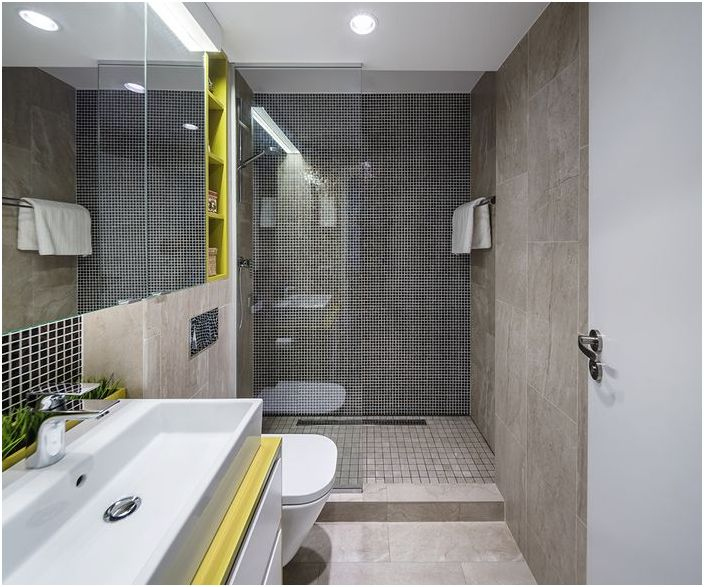 Wnętrze połączonej łazienki