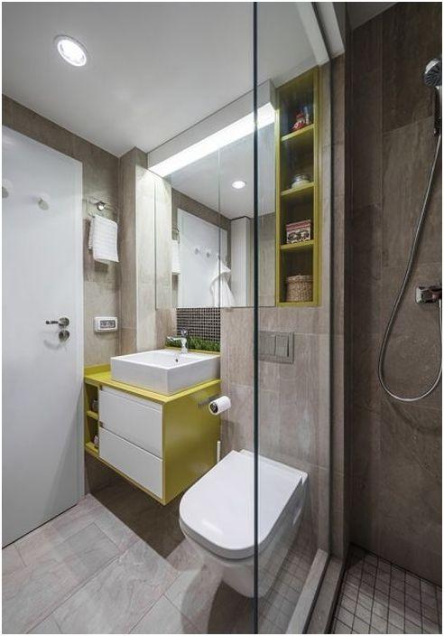 Lakoniczne nowoczesne wnętrze łazienki