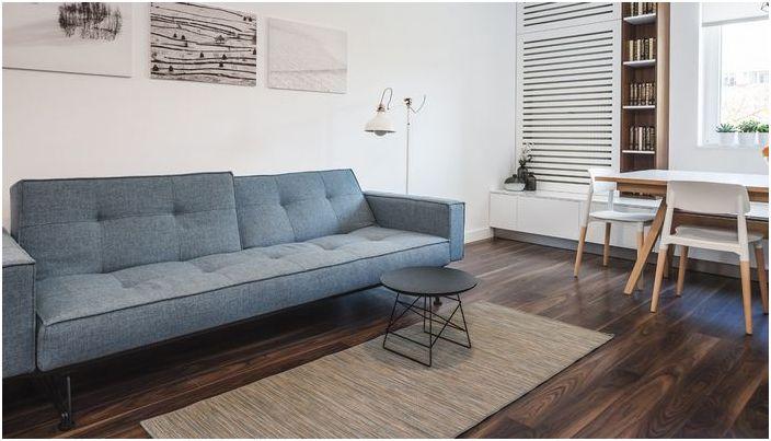 Harmonijne wnętrze małego mieszkania
