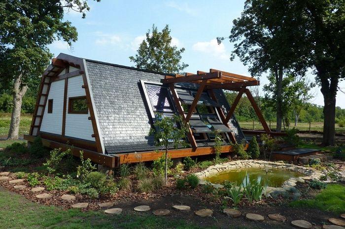 Дом с нулевым показателем энергопотребления извне.