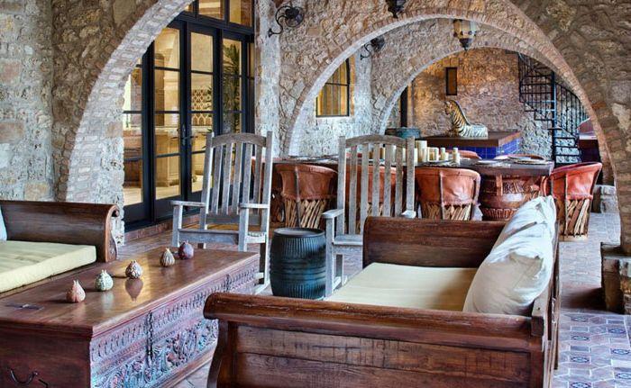 тераса в марокански стил с традиционни мебели
