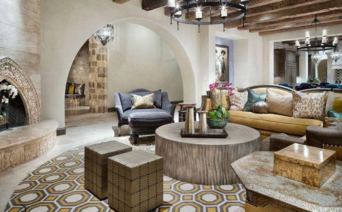 Зона за почивка в марокански стил