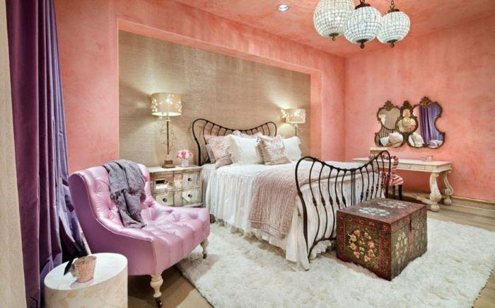 Розова спалня в марокански стил