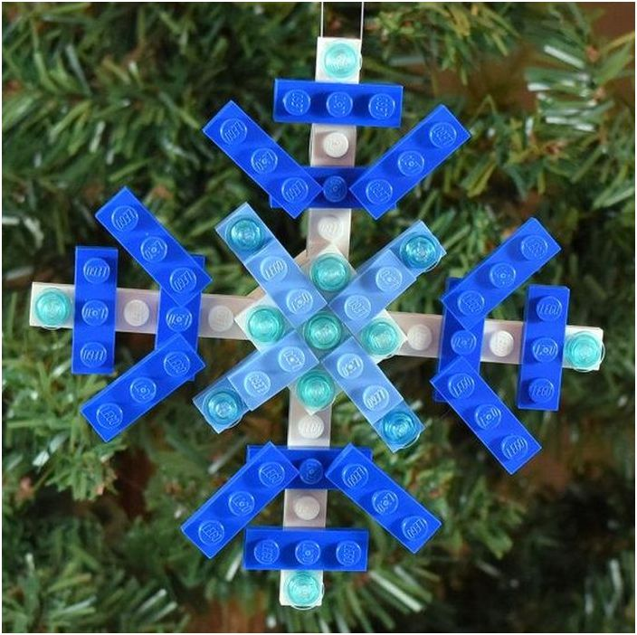 Снежинка Лего
