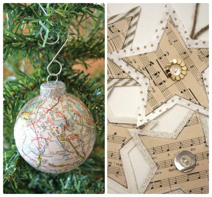 Коледни украси от хартия