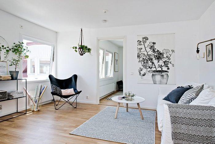 A fehér a skandináv stílusban hagyományosnak tekinthető.