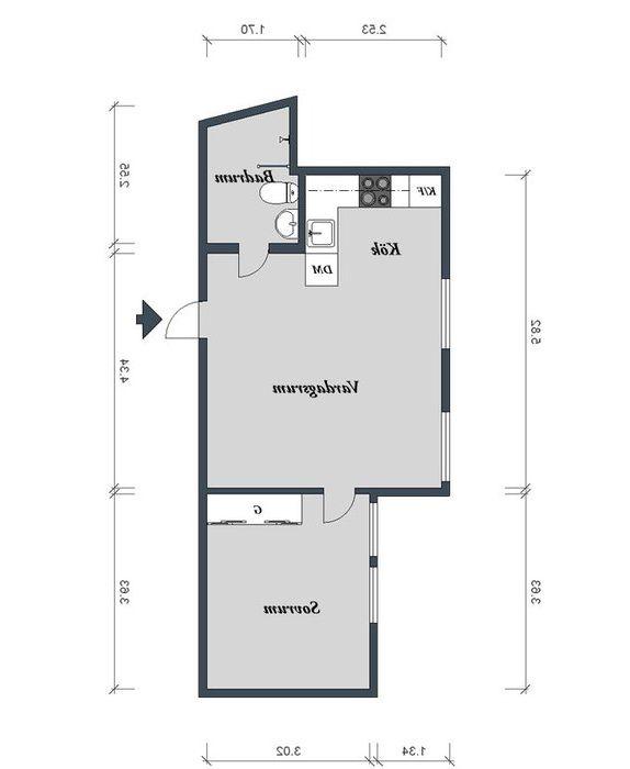 40 négyzetméteres apartman elrendezése