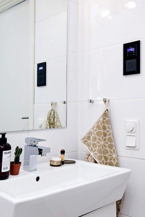 A zenét a fürdőszobában is hallgathatja. Itt telepített rádió
