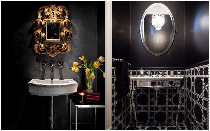 Как да постигнем хармония: 11 невероятно красиви бани в черно