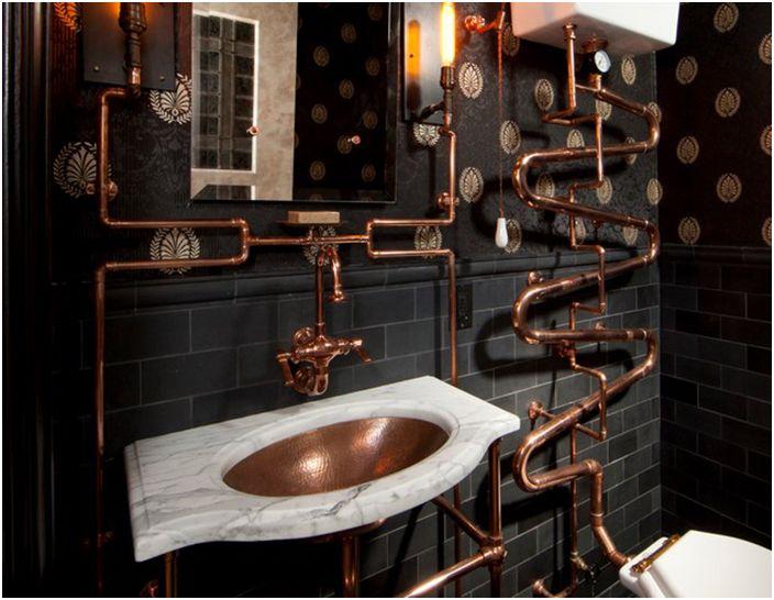 Интериор на банята от Andre Rothblatt Architecture
