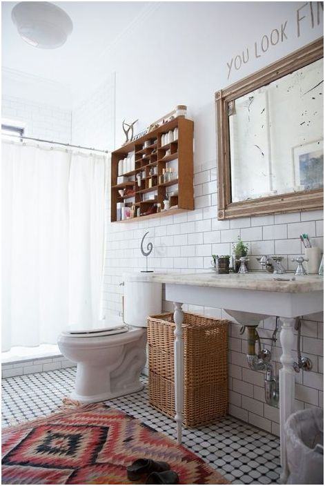 Dywan jako element wyposażenia łazienki