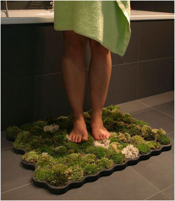 Niezwykły dywanik łazienkowy