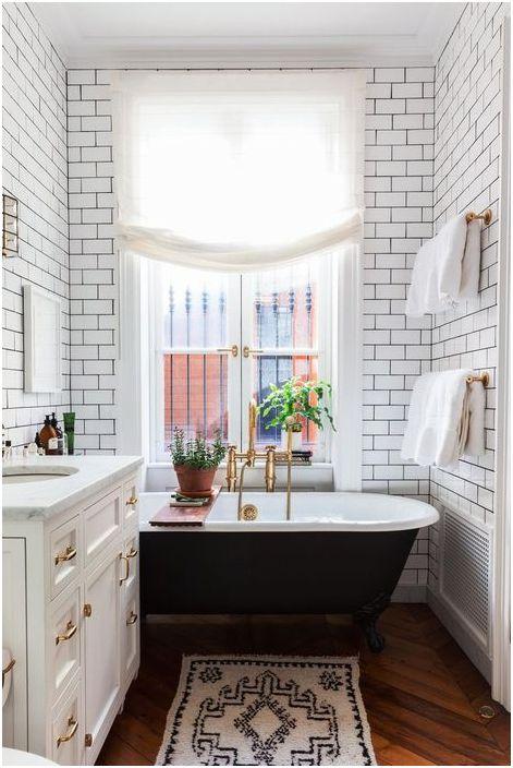 Dywan we wnętrzu łazienki