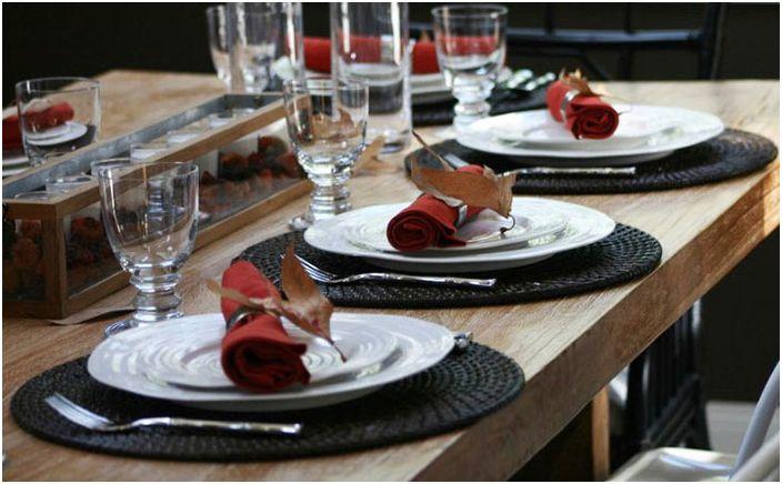 Есенна настройка на масата