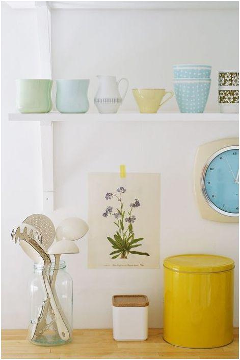 La vaisselle comme élément de décoration