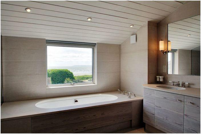 Wnętrze łazienki zaprojektowane przez Meynell Hoolahan Architects