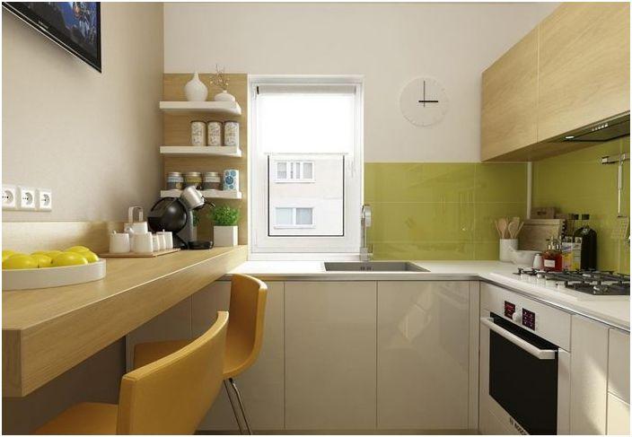 Малка кухня: 6 квадратни метра