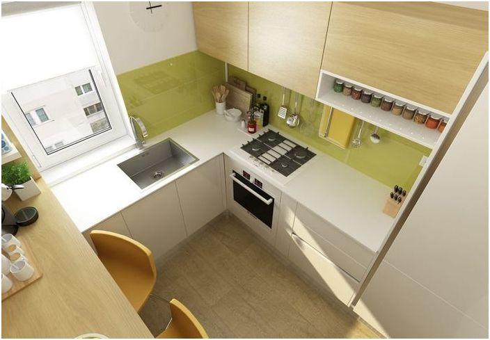 Малка кухня в модерен стил