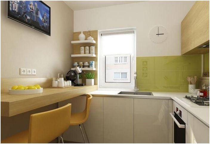 Удобно оформление на малка кухня