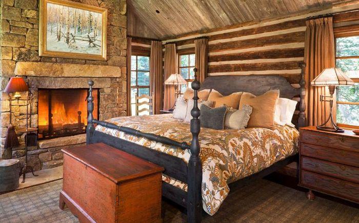 Как да украсите селска спалня