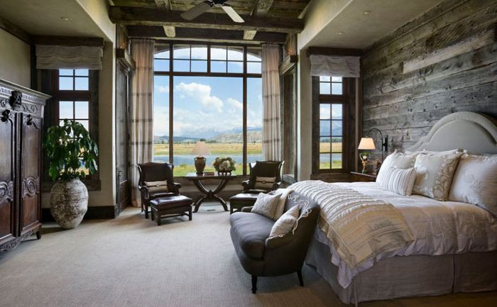 Селски интериор на спалнята