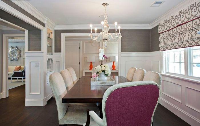 Сив цвят в интериора на трапезарията