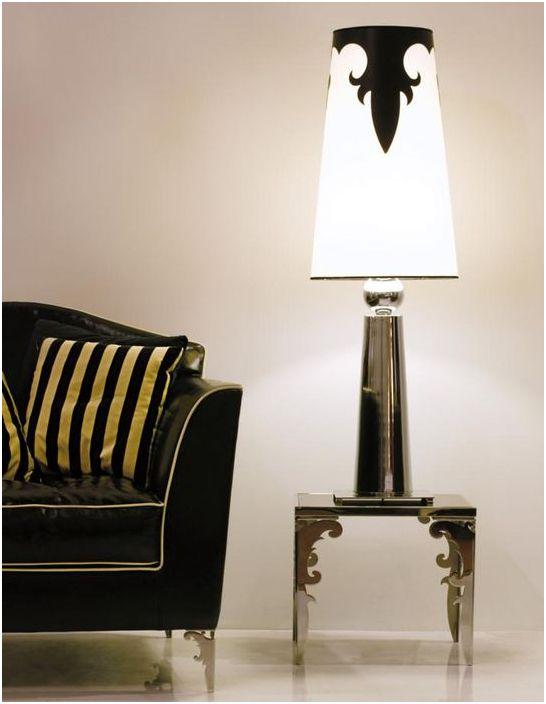 Необичайна подова лампа