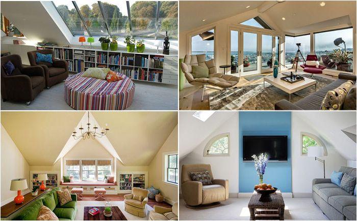 Hogyan lehet átalakítani a tetőtérben nappali szobát?