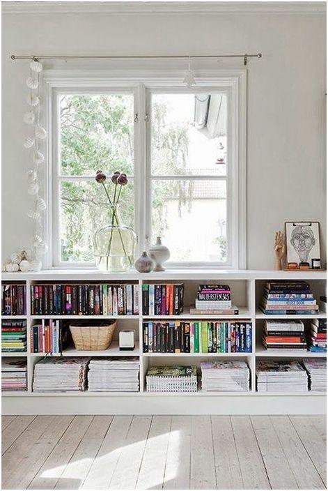 Съхранение на книги под перваза