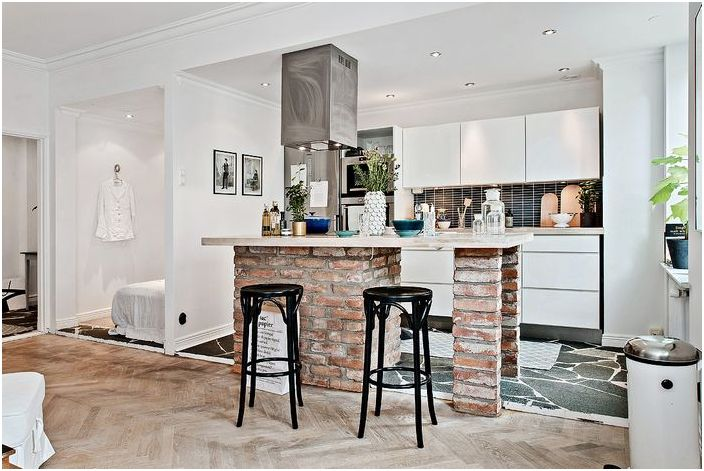 Стилен интериор на малък апартамент