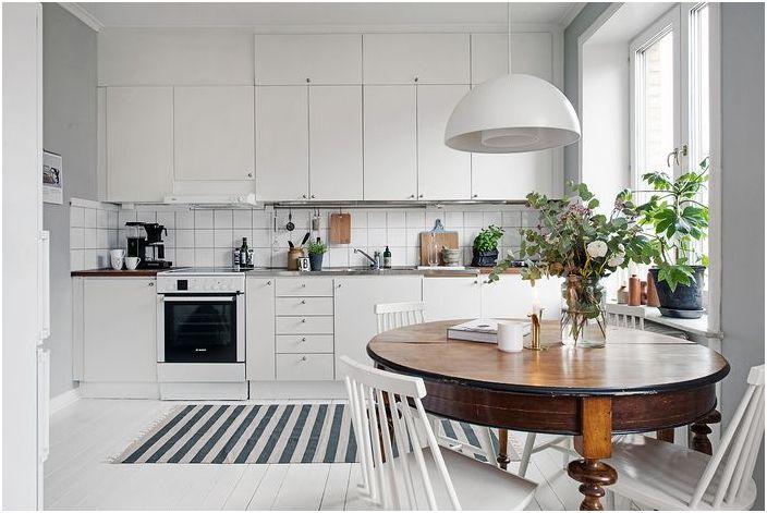 Бяла скандинавска кухня