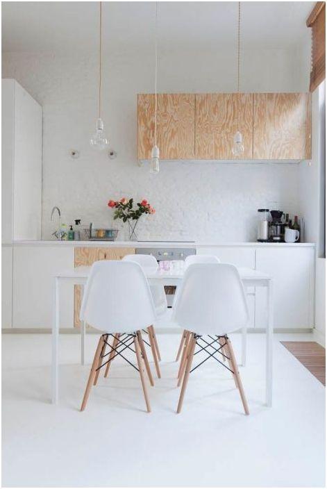 Лаконичен дизайн на кухня в скандинавски стил