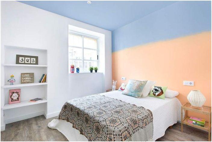 Необичайна боядисване на стени в детската стая
