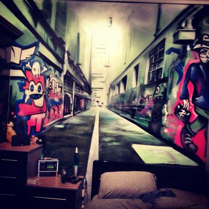 Графити на стената.
