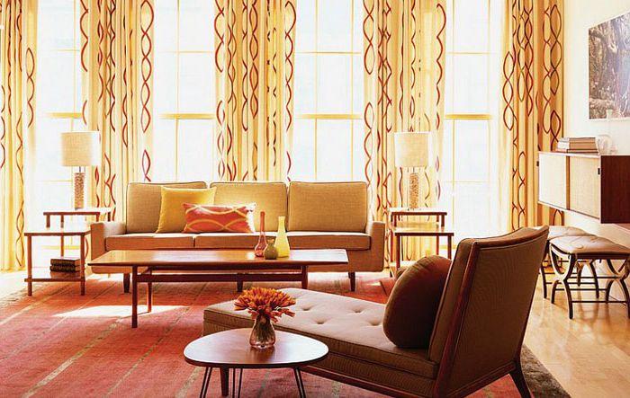 Шарени завеси в интериора от Amy Lau Design