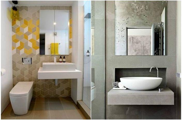 Огледало за баня: очарователни примери