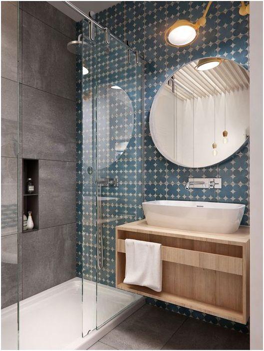 Стилно кръгло огледало за баня
