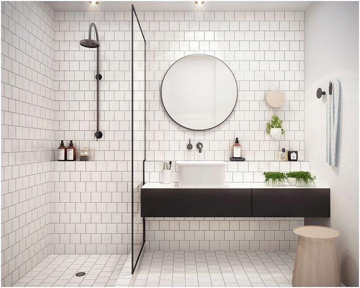 Кръгло огледало за баня