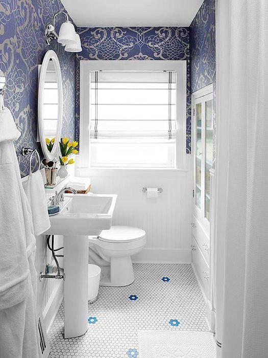 Дълбокото синьо се използва най-добре в хармония с бялото