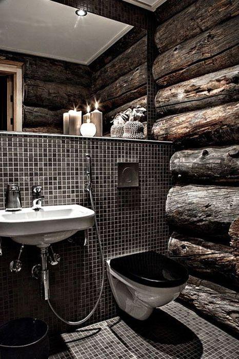 Тъмната баня изглежда необичайно