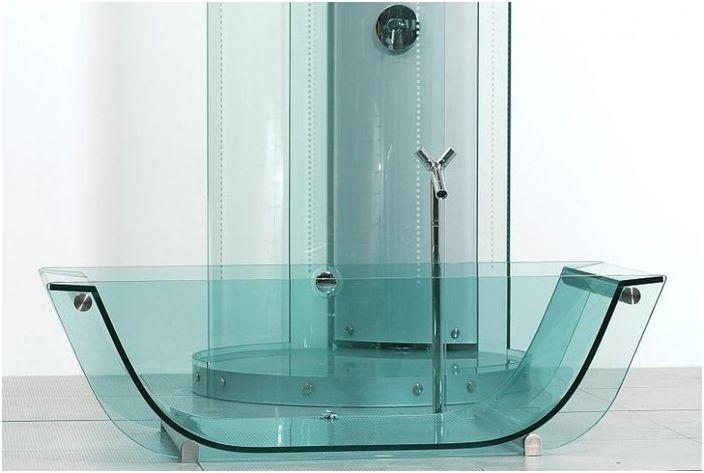 Стеклянная ванна