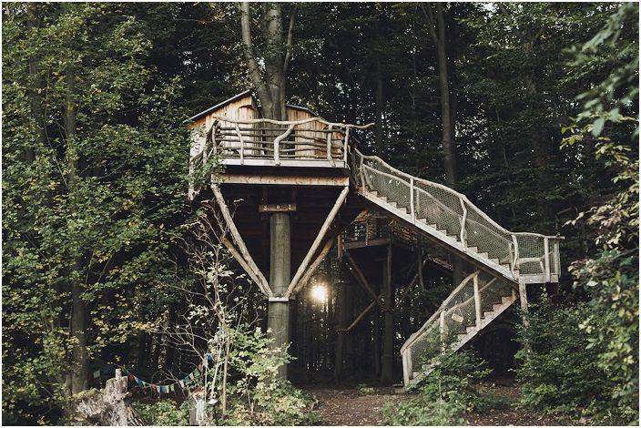 Robin & rsquo; s Nest Treehouse to ekologiczny hotel z domkiem na drzewie.