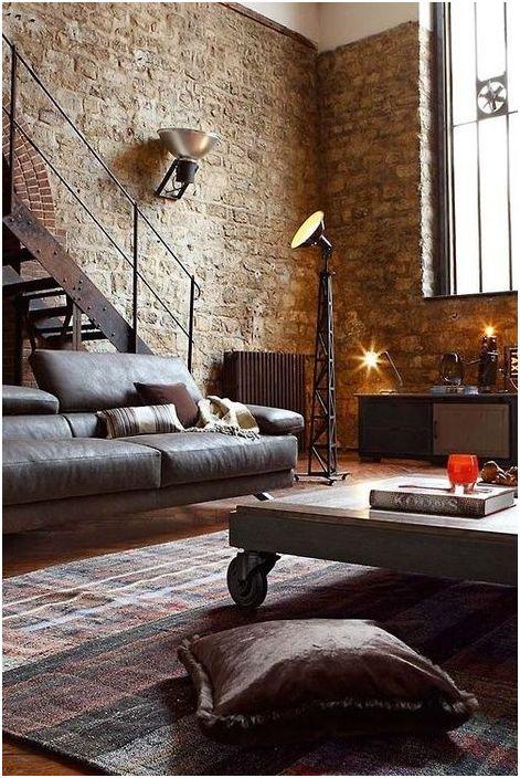 Mursteinvegg i loftets indre