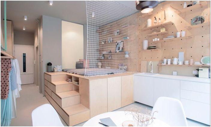 Апартамент от шперплат на 30 квадратни метра