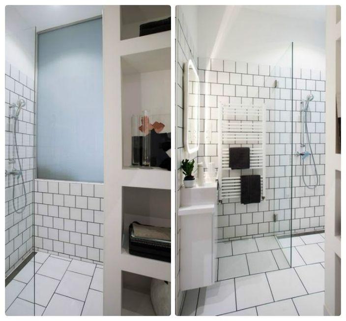 Маленькая и стильная ванная комната