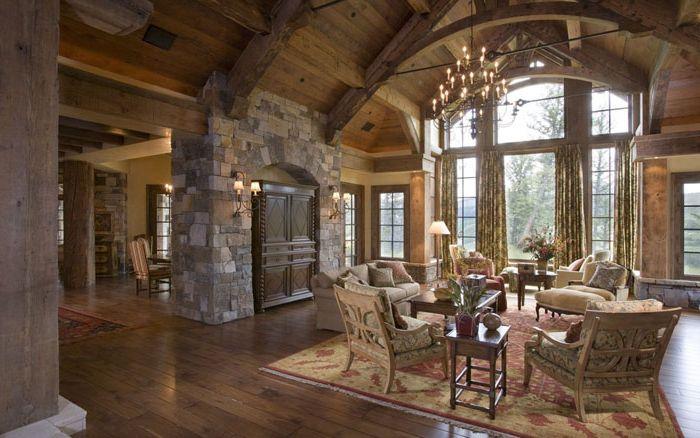 Nappali szoba rusztikus stílusban