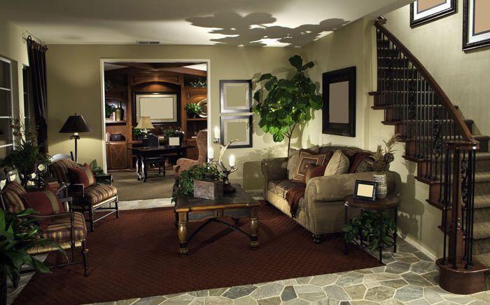 Kis nappali a lépcső és a dolgozószoba között
