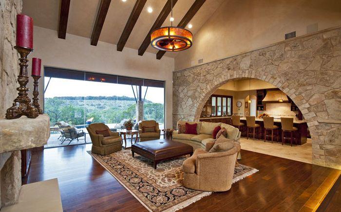 Relaxációs terület a nagy nappaliban