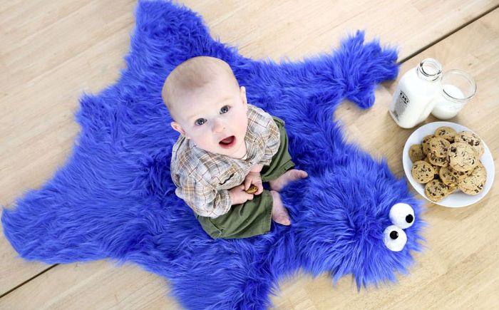 Килим `` Monster Cookies '' за хлапето със собствените си ръце