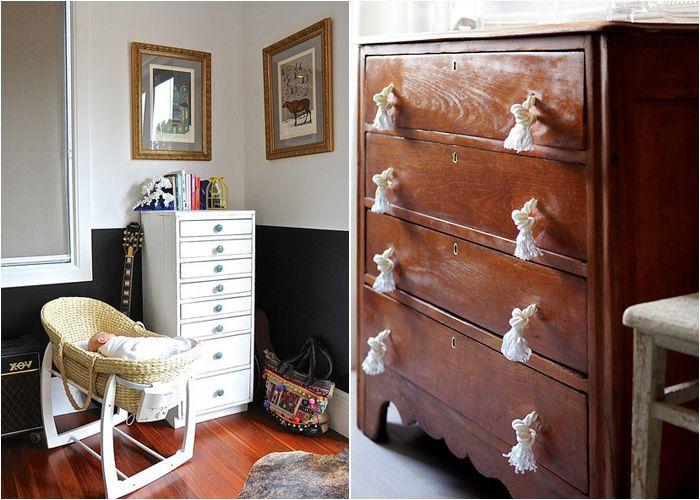 Сменяйте дръжки на скринове и нощни шкафчета